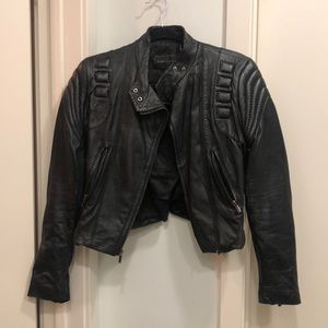 BCBG Max Azria Leather Moto Jacket